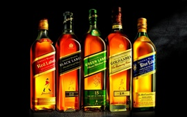 Johnnie Walker, whiskey close-up