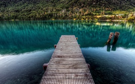 Preview wallpaper Lake wooden pier