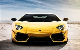 Preview wallpaper Lamborghini Aventador LP700-4 yellow supercar