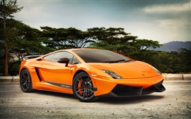Preview wallpaper Lamborghini Gallardo LP570-4 orange color