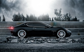 Preview wallpaper Maserati GranTurismo supercar in high speed running
