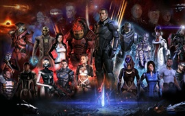 Preview wallpaper Mass Effect 3 game characters