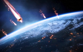 Preview wallpaper Mass Effect 3, invasion earth