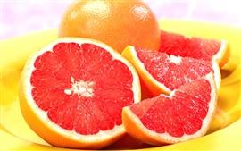 A polpa vermelha de laranjas