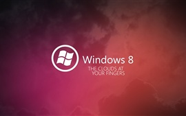 Preview wallpaper Windows 8 red background