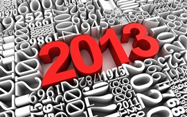 3D creative, red 2013 New Year