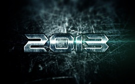 Preview wallpaper 3D metal 2013 New Year