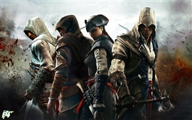 Preview wallpaper Assassin's Creed 3, four assassins