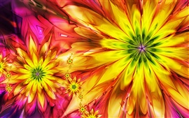 Bright abstract colorful flowers