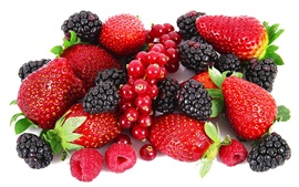 Preview wallpaper Delicious berries, strawberries, raspberries