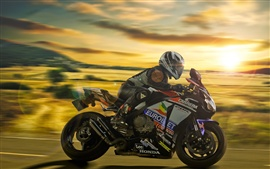 Preview wallpaper Honda motorcycle, racing