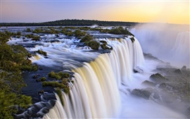 Preview wallpaper Iguazu waterfall, Argentina and Brazil at the junction