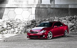 Preview wallpaper Lexus eye-catching red car