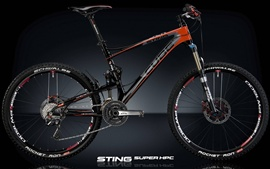 Preview wallpaper Speed bike, black background, STING Super HPC