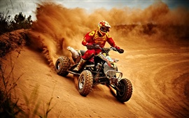 Preview wallpaper Sports, motorcycle race, dusty