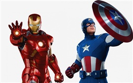 Preview wallpaper The Avengers, Iron Man, Captain America