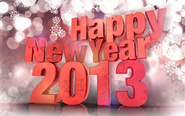 Preview wallpaper 3D design, Happy New Year 2013
