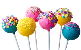 Preview wallpaper Children's favorite candy, colorful lollipop