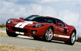 Ford GT 700 supercar, red color