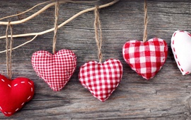 Preview wallpaper Handicrafts, heart-shaped cloth jewelry