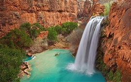Preview wallpaper Havasu Falls, Grand Canyon National Park in Arizona