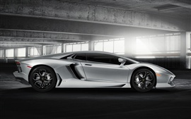 Preview wallpaper Lamborghini Aventador LP700-4 silvery color highlight