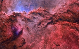 Nebulae, stars, red, beautiful, space