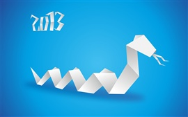 New Year 2013, Year of the Snake, blue background
