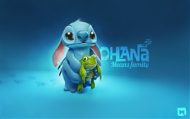 Preview wallpaper Stitch with frog