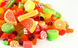 The dazzling colorful candy, fruit sugar