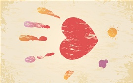 Valentine's Day, palm print, fingerprint, the love of heart-shaped