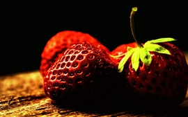 Preview wallpaper Vitamin-rich fruit, strawberry close-up photography