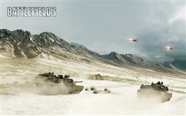 Preview wallpaper Battlefield 3, tanks and fighters in the war