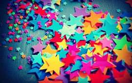 Preview wallpaper Large and small, five-pointed star, colorful of colors