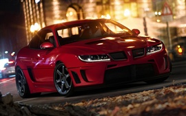 Pontiac GTO car, red color