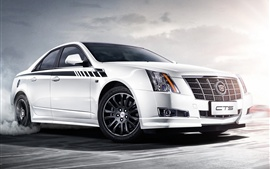 2013 Cadillac CTS Vday white car