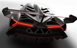 Preview wallpaper 2013 Lamborghini Veneno, rear close-up