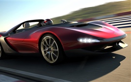 Preview wallpaper 2013 Pininfarina Sergio concept car in high-speed