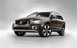 Preview wallpaper 2014 Volvo XC70 SUV brown color