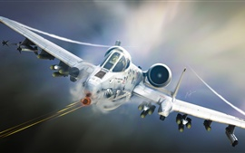 Preview wallpaper A-10 Tankbuster, attack aircraft, airplane, art design