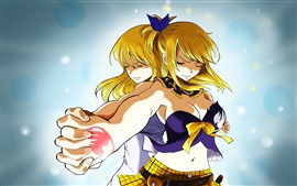 Preview wallpaper Blonde anime girl, do not let go