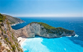 Preview wallpaper Greece Ionian Islands, sea, summer, sky, sunlight, beautiful scenery