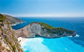 Grécia Ilhas Jónicas, mar, verão, céu, luz solar, belas paisagens
