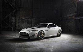 2014 Jaguar XKR-S GT white car