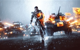 Preview wallpaper Battlefield 4, the rainy day night city