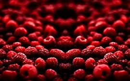 Delicious fruits, red raspberry