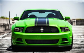 Preview wallpaper Green Ford mustang