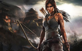 Lara Croft in Tomb Raider game