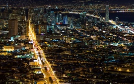 Preview wallpaper San Francisco beautiful city night
