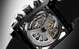 Preview wallpaper TAG Heuer, Monaco Twenty Four, clock watch, macro close-up